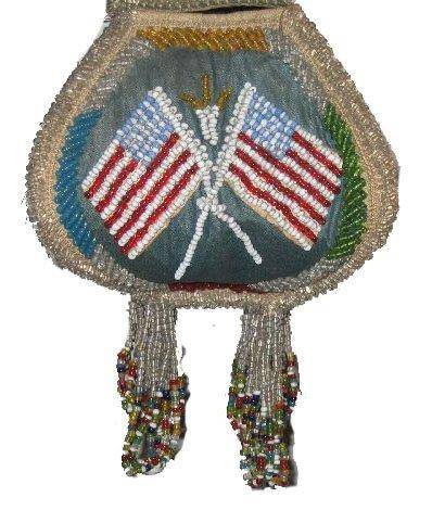 Old Glory as Rendered by  Mohawk Beadworkers