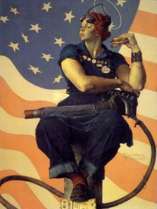 """Rosie the Riviter"" by Norman Rockwell"