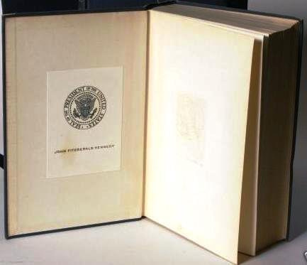 book of JFK with bookplate