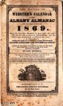 """Webster's Calendar of the Albany Almanac"""" for 1866."""