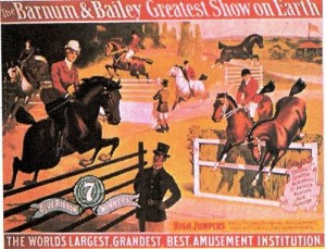 1904 – Barnum & Bailey; Blue Ribbon Winners – High Jumpers