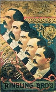 1900 – Ringling Bros.; Portraits of the five brothers