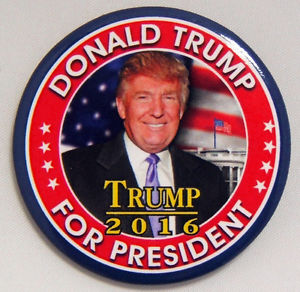 While Donald Trump is a divisive figure, if one wants to find a Trump 2016 political button, there are dozens of styles to choose from, even at this early stage of the campaign.