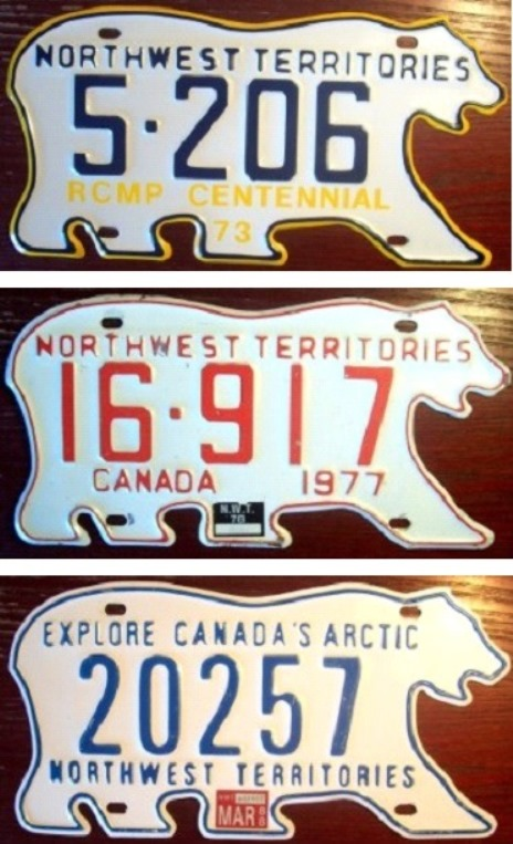 """Occasionally, an anniversary or a slogan, such as """"Explore Canada's Arctic"""" would be added to the plate."""