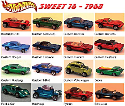 Hot Wheels Sweet 16 - 1968