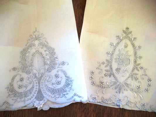 towels are nice examples of Appenzell embroidery, although because they are only floral without any figures, they are not as highly desired.