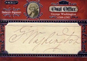 This card featuring George Washington's signature from a clipped document was recently on the market for $75,000.