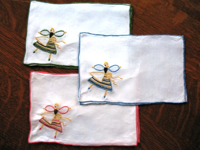 A set of Dancer cocktail napkins, which came in several colors.