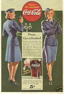 1942 ad featuring military women