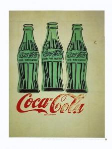 Andy Warhol's three Coke bottles offset litho