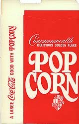 Coke popcorn box, 1960s