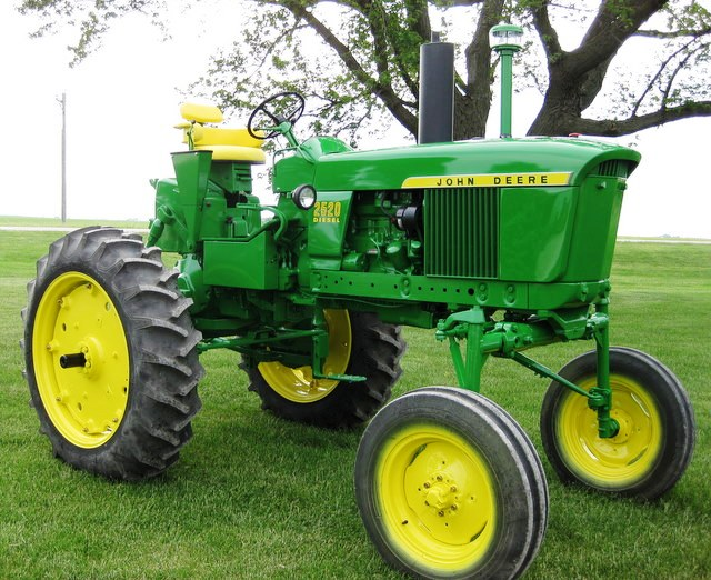 This extremely rare 1971 John Deere 2520 high crop diesel tractor was the top lot in the two-day sale of John Deere vintage tractors and related collectibles held July 8-9 in Le Mars, Iowa, selling for $64,000.