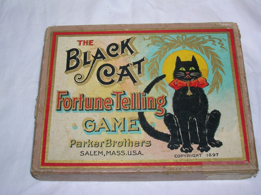 """A rare """"Black Cat"""" fortune-telling card set from 1897."""