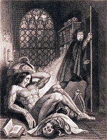 "First illustration of ""Frankenstein,"" 1831."
