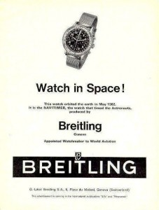 """An ad following the scrubbing of the word """"Cosmonaut"""" from the watch because of concerns in the U.S. about the Red Scare and the space race with the Soviet Union."""