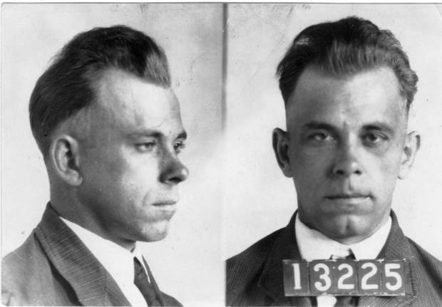 John Dillinger's mug shots. On Dec. 12, 2009, Heritage Auctions held a sale of several items Dillinger had on his person when he was shot and killed by FBI agents outside of the Biograph Theater in Chicago on July 22, 1934.