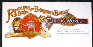 Here are two examples of Circus World Letterhead each worth $10-$15 per sheet. When the park first opened it was called Ringling Bros. and Barnum & Bailey Circus World. At that time Mattel Toy Company owned Ringling Bros. and Barnum & Bailey Circus and Circus World.