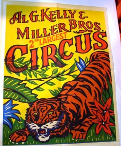 Al G. Kelly & Miller Bros. 2nd Largest Circus poster from the 1950s