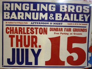 A 1954 Ringling Bros. and Barnum & Bailey date sheet.