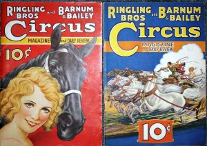 Ringling Bros. and Barnum & Bailey programs from 1934 and 1935.