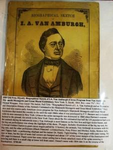 A Van Amburg & Company Show biography.