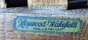 This is a very early label for Heywood-Wakefield, circa 1921, when the name was first used after the reorganization.