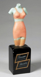 Once common retail display items like this Flexees Flexaire women's undergarments countertop display is rarely seen today.