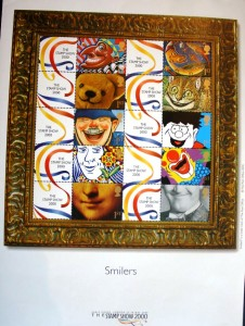 This first day cover of a clown smile was cancelled in Edinburgh, UK in 1990.