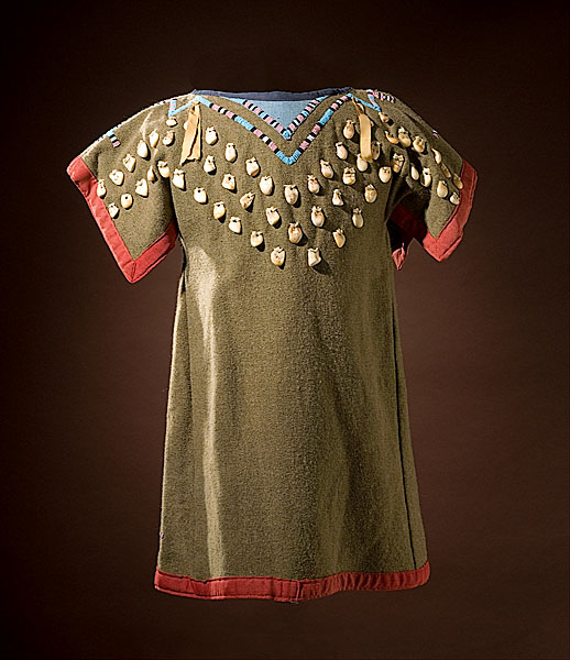 Crow girl's dress decorated with elk teeth and cowrie shell sold for $8,225 (including buyer's premium) in 2008.