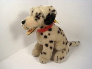 "Steiff's ""Spotty Dotty""—Dally the Dalmatian.  This Dally was produced from 1953-69 in 10, 17 and 28 centimeters."