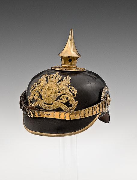 A Bavarian field artillery officer's helmet, estimated value of $700-$900. (Photo courtesy of Cowan's Auctions, Inc., Cincinnati, Ohio)