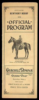 1943 Official Derby Program