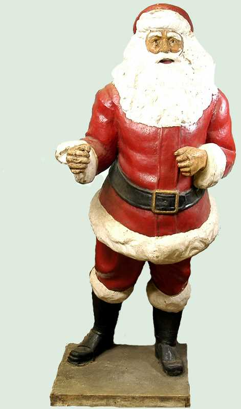This 5-foot-tall Santa was found in an attic and purchased for $300. It was no lump of coal for the buyers.