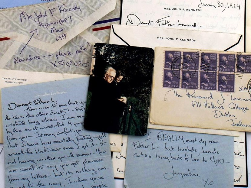 Photographs and transcripts of these letters, written by Jacqueline Kennedy from 1950 to 1964, appeared in The Boston Globe on May 13, 2014. (Photo: Sheppard's Irish Auction House)