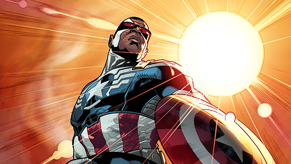 All-New Captain America #1 cover by Stuart Immonen. Steve Rogers is stepping down and his good friend, Sam Wilson, will be the new Captain America.