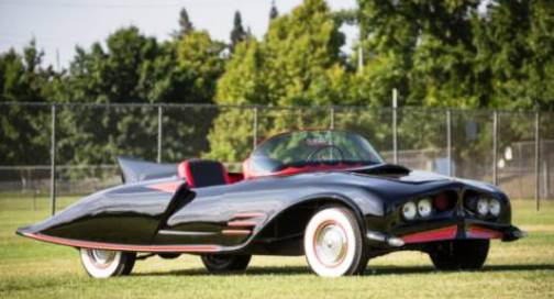 The first official Batmobile to hit the streets—a custom-built 17-foot body featuring a bat-nose front-end and iconic single fin on the rear created by two friends in a New Hampshire barn—will be up for bid at the Dec. 5-6 Heritage Auctions' Entertainment and Music Memorabilia Signature Auction. Bidding will open at $90,000.
