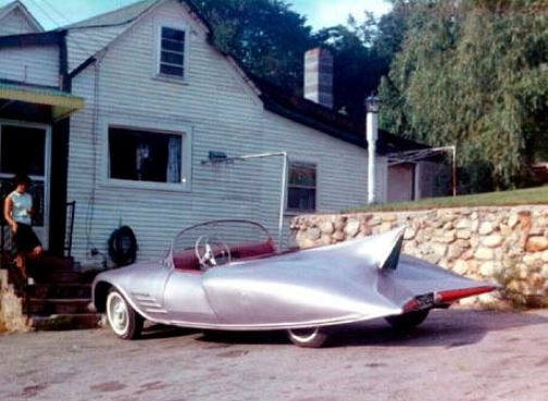 Initially the car was painted the car silver and used for everyday driving. It was noticed by employees of All Star Dairies and Green Acres Farms Ice Cream—an affiliate of DC Comics at the time.