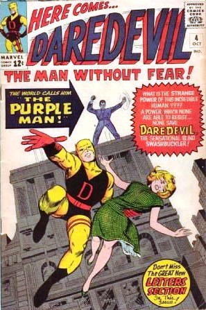 Daredevil #4, Marvel, 1964, first appearance of The Purple Man