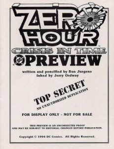 Zero Hour #4, DC, 1994, Preview Edition