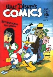 Walt Disney's Comics and Stories #31, Dell, 1943 (Barks' monthly duck stories begin)
