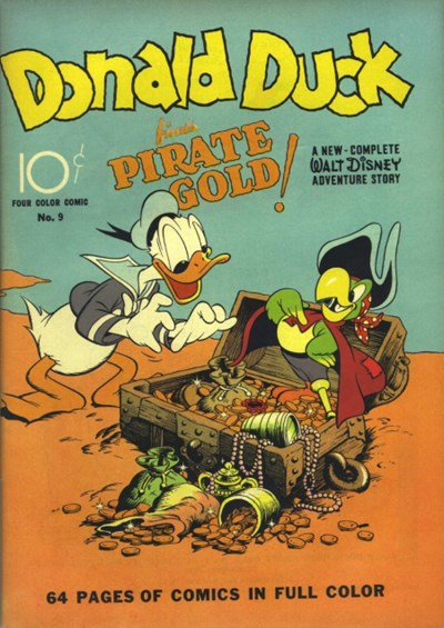 Donald Duck #9, Dell, 1940 (first Barks Donald Duck)