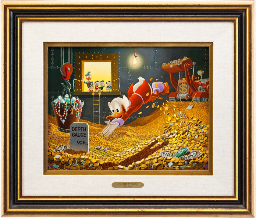 """This Barks oil painting titled """"The Sport of Tycoons"""" sold for $262,900 at Heritage Auctions."""