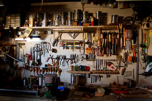 A workshop full of tools—used to repair, refurbish and repurpose items—are not of much use for a generation that would rather throw out and replace.