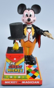 This Linemar Disney Mickey Mouse as Magician is expected to bring between $200 and $500 at the Milestone Auctions on May 2.