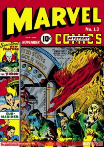 Joe Simon and Jack Kirby created the first iteration of the Vision in the pages of Marvel Mystery Comics #13 in 1939. He wasn't an android, though, but an alien law enforcement officer from Smokeworld.