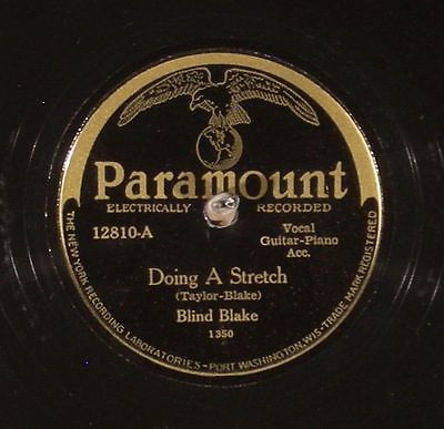 "A 78 RPM record of ""State Street Rag"" by Louie Bluie and Ted Bogan on the Bluebird label sold for $7,855.55 with nine bids on eBay in March of 2015."
