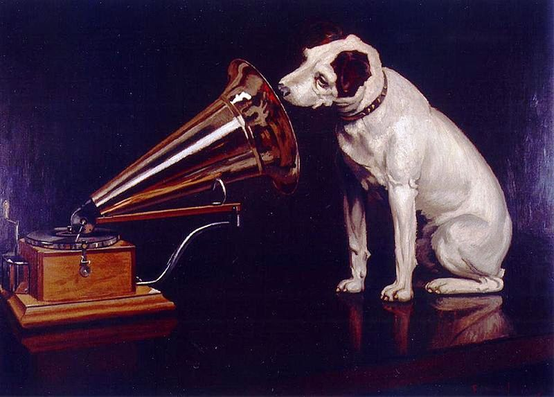 """Dog Looking at and Listening to a Phonograph,"" painted by Francis Barraud, would become one of the best know advertising images in the world."