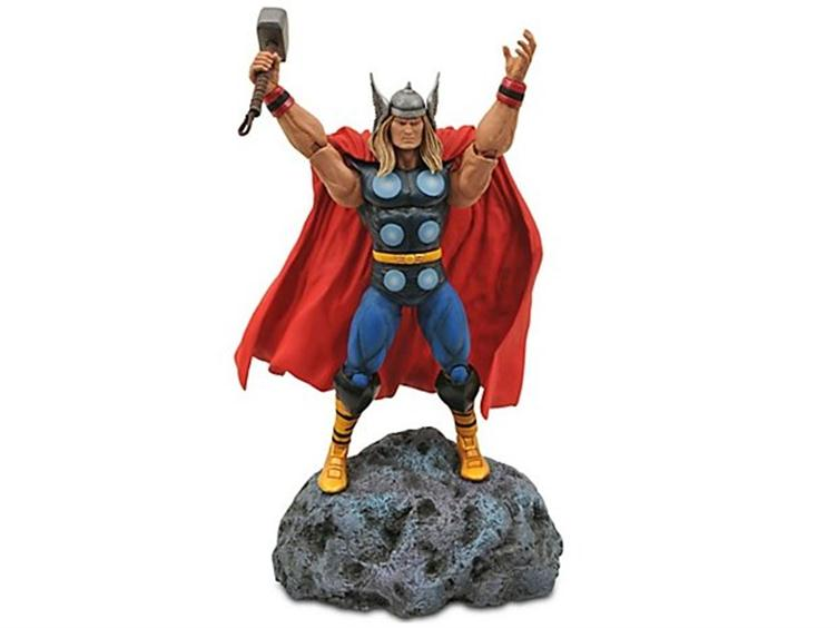 Like any good hobby, the comic collecting business understands the importance of merchandising, which is why you can find your favorite heroes on everything from shoe laces to toothpaste, or highly detailed statues or a particular Norse god.