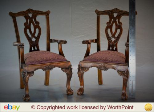 While many salesman's samples can demand high prices, the subject and desirability, sometimes they just don't capture the imagination of bidders. This pair of Chippendale chairs went into an auction with presale estimate of $50 to $100. Yet it brought only $40.
