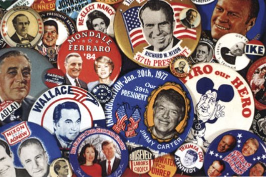 For collectors of political buttons and pin-backs, they know that their particular obsession is different from those of people who collect other things. Five different things, to be exact.